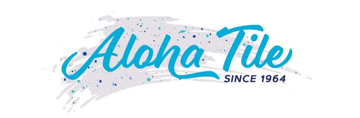 Logo for Aloha tile - light blue