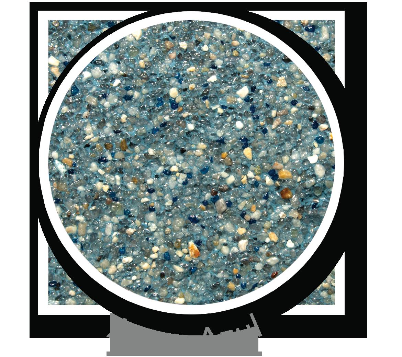 Round sample of Finest Finish Aqua Azu