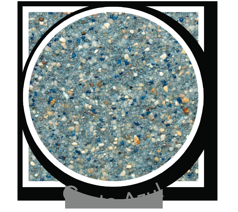 Round sample of Finest Finish Costa Azul