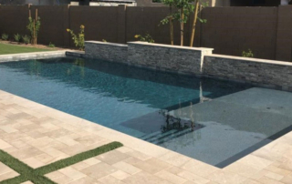 FInest finish Desert Series Topaz pool with ledge and steps