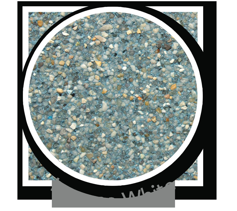 Round sample of Finest Finish Laguna White