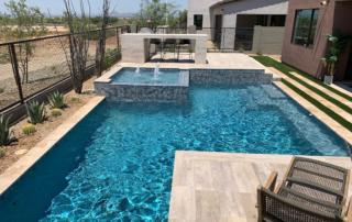 Universal Mini Pebble Laguna pool with spa