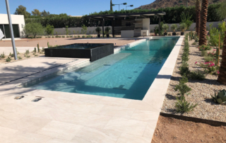 Ragiant fusion - Pearl Finish with spa , landscaping and travertine deck