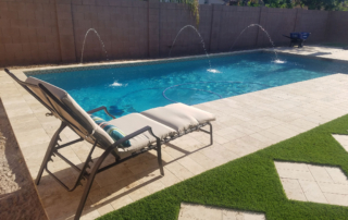 Finest Finish Arctic Coast Pool with fountains and deck chair