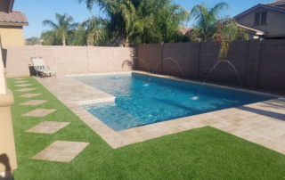 Finest Finish Arctic Coast Pool with fountains and deck chair 2