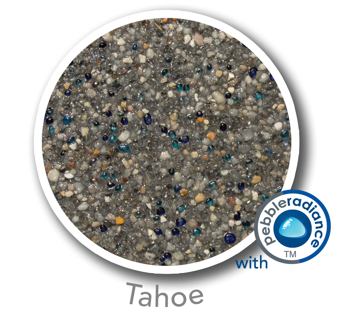Round sample of Finest Finish Mini Pebble with Pebble Radiance Tahoe