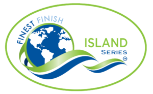 Finest Finish Island logo green with oval background
