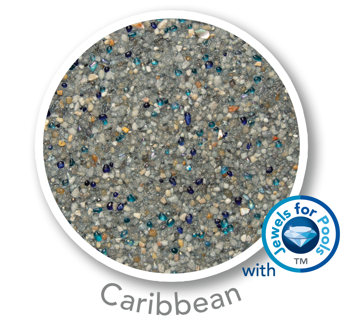 Universal Mini Pebble with Jewels for Pools glass Caribbean sample