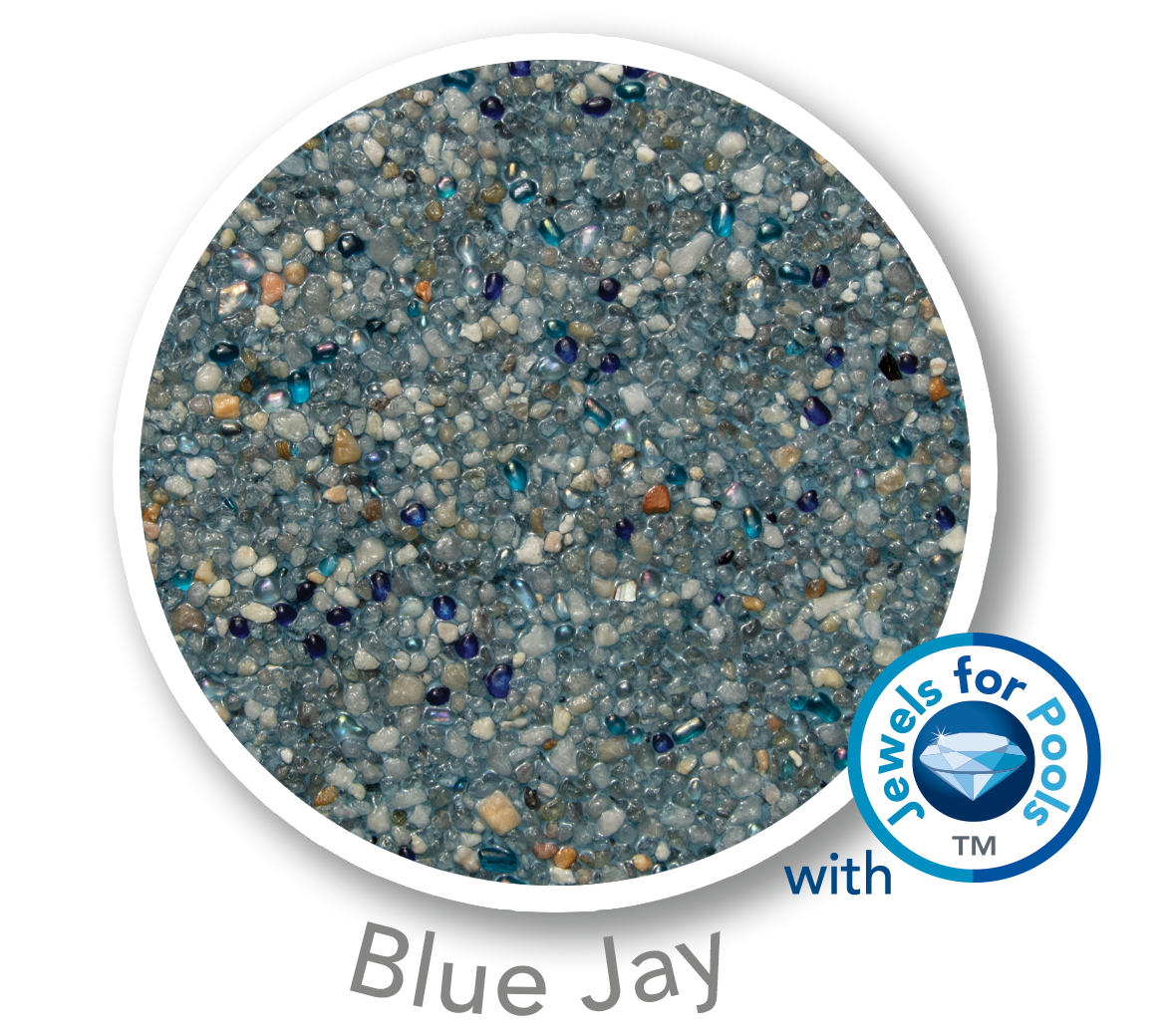 Universal Mini Pebble with Jewels for Pools glass Blue Jay sample