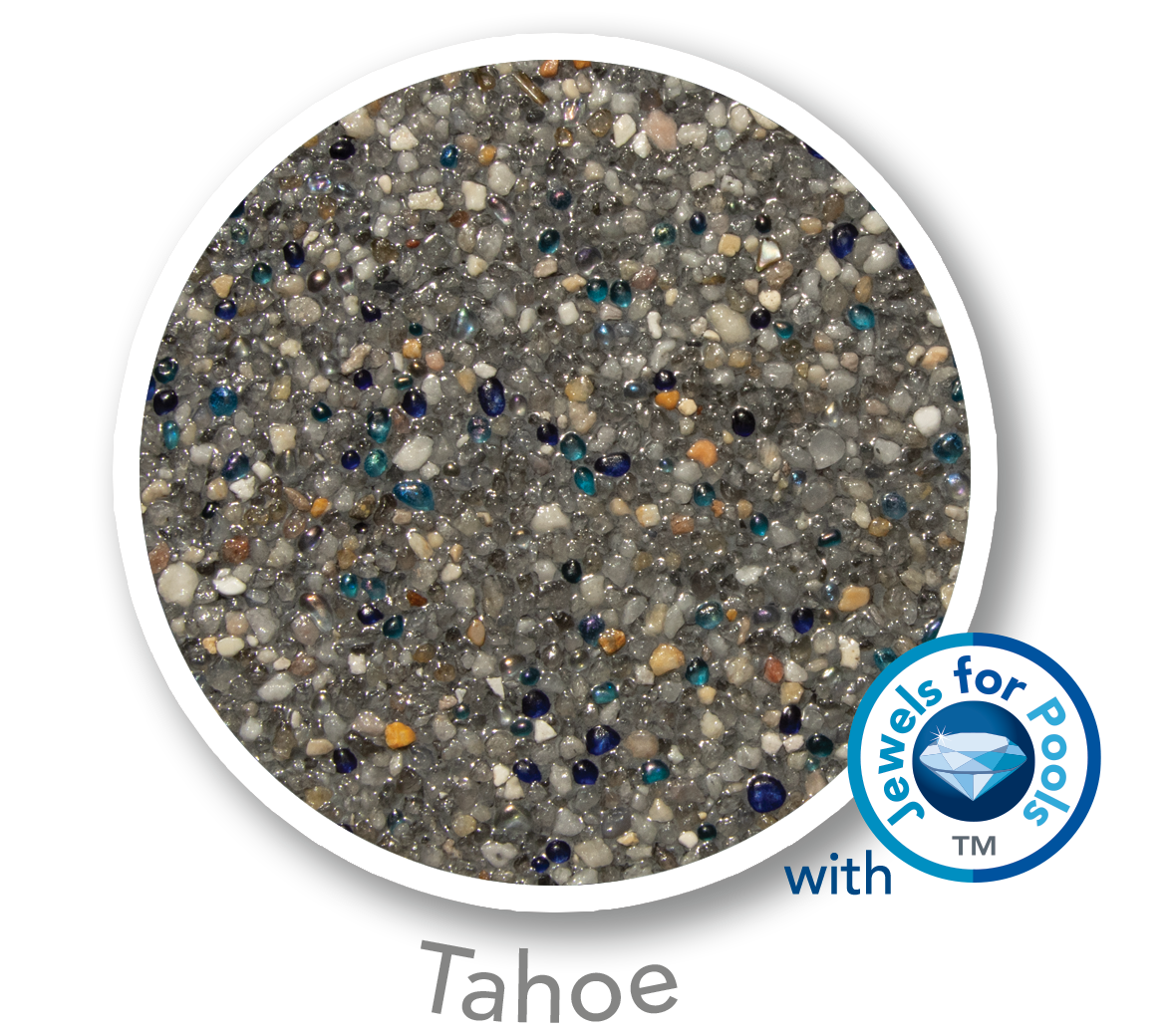 Universal Mini Pebble with Jewels for Pools glass Tahoe sample