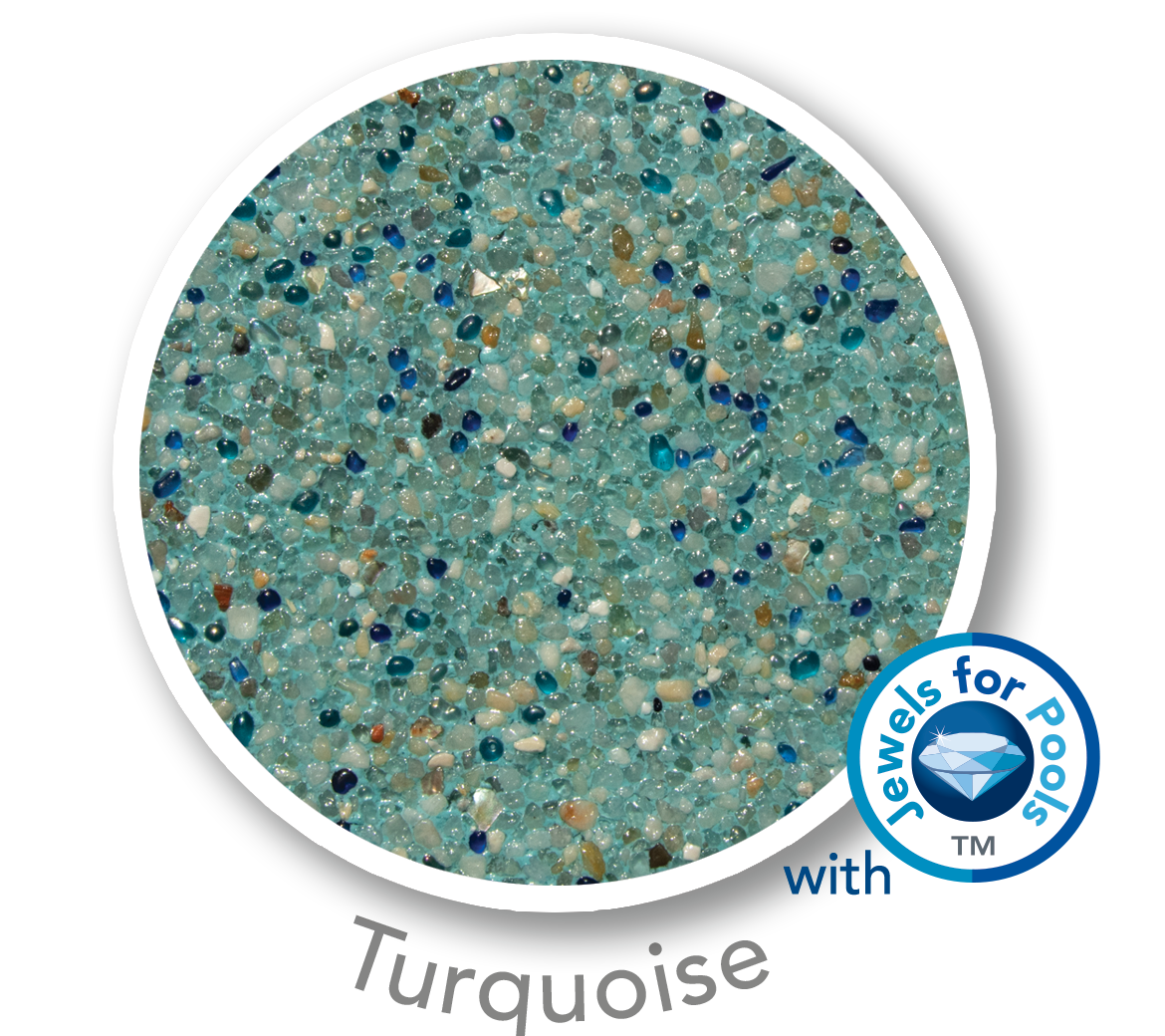 Universal Mini Pebble with Jewels for Pools glass Turquoise sample