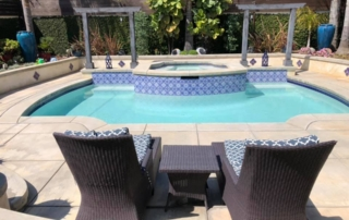FInest FInish Commercial white pool finish pool with two chairs
