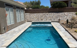 Finest Finish Blends Pool - Micro Fusion - Turquoise with waterfall