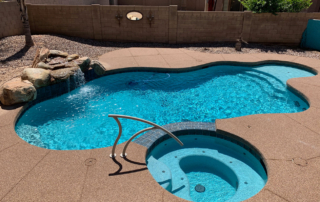 Finest Finish Universal Mini Pebble with JFP glass Pool - Turquoise