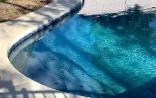 Universal Mini Pebble Aqua Azul pool steps