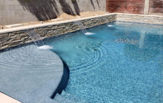 Finest Finish Radiant Fusion Indigo Crush Pool steps