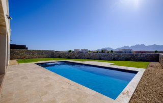 Finest Finish Sparkle Quartz Laguna pool with view