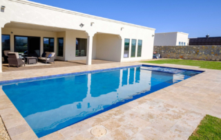 Finest Finish Sparkle Quartz Laguna pool with house