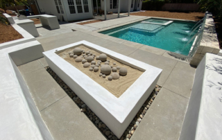 Finest Finish Pool with fire feature Radiant Fusion- Peal