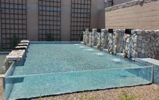 Universal Mini Pebble pool - tile with transparent side