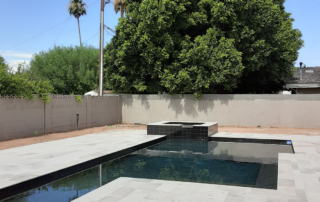 UMP pool with spa Black with llght decking