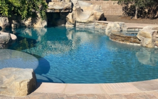 Finest Finish Micro Fusion - Tahoe pool with rock feature