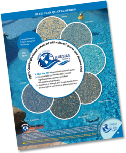 Picture of Bluestar Brochure for Texas Region with pool and samples