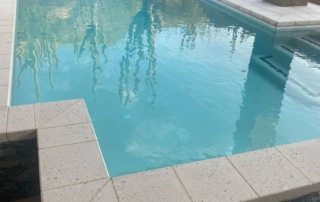 Commercial White pool with spa