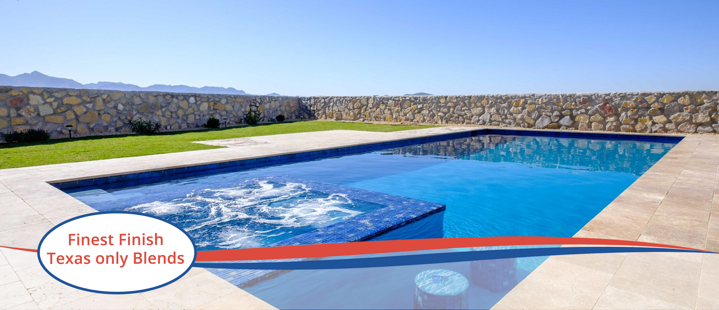 Finest Finish Sparkle QUartz pool with water feature and seating