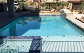 Sparkle Quartz White swimming pool and spa