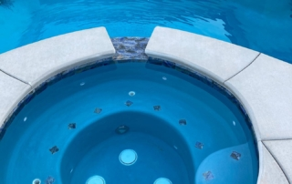 Sparkle Quartz Spa and pool with blue tile