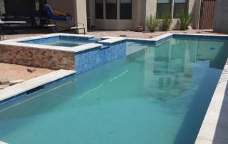 Universal Mini Pebble Aqua Azul pool with spa
