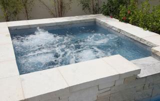 Universal Mini Pebble Laguna Blue square spa