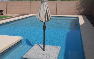 Universal Mini Pebble with Jewels for Pools Glass Turquoise swimming pool with umbrella