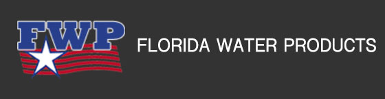 Florida Water Products logo - white star/red waves
