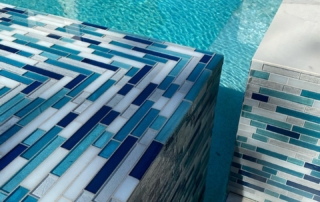 Finest Finish Blends Micro Fusion Turquoise tiled pool edge and water color