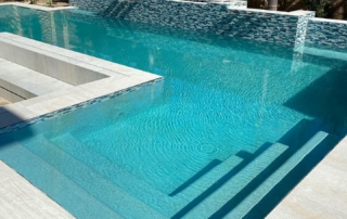 Mirco Fusion Turquoise water feature with tile detail