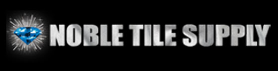 Noble Tile Supply logo black with diamond