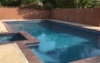 Universal Mini Pebble Agua Azul pool and spa with brick coping 2