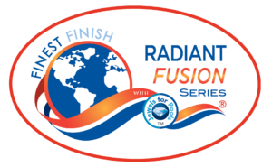 Finest Finish Radiant Fusion Logo Red Orange with oval background