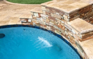 Finest Finish Sea Blue pool with water feature
