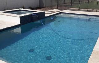 Laguna Blue pool with square spa